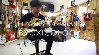 Gitar Bass Fender Jazzbass black vintage 5 St Customized