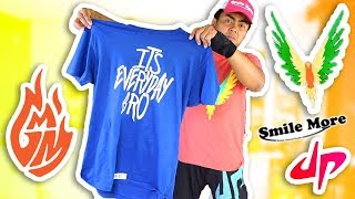 I Ordered Every YouTuber's Merch and Wore It!