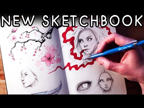 Starting a New SKETCHBOOK - Talking about Plans & Life