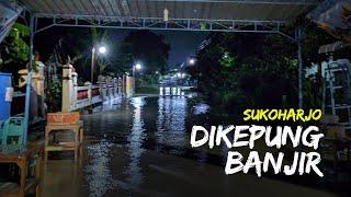 Sejumlah Kawasan di Sukoharjo Dikepung Banjir, Tinggi Air Mencapai Lutut Orang Dewasa