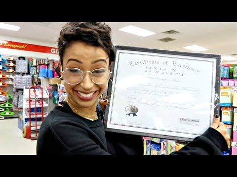 I GRADUATED FOR FREE! DOLLAR STORE WITH LIZA PART 3!
