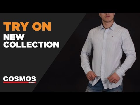 Tommy Hilfiger Basic Slim Fit Shirt Classic Striped White | Cosmos Sport
