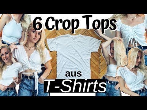 6 DIY CROP TOPS aus alten T-Shirts selber machen! ❤️ (T-Shirt Hacks für Sommer 2019)