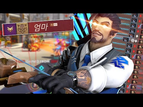 I faced a Hacker/Cheater Hanzo and kept Killing him as Widowmaker - Overwatch