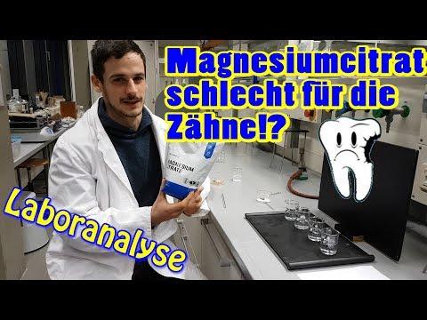 Magnesiumcitrat schlecht für die Zähne!? Supplement bei Magnesiummangel in der Laboranalyse