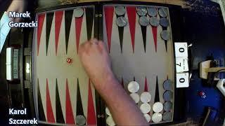 III Mistrzostwa Polski w Backgammona - Runda 6 - Karol Szczerek vs Marek Gorzecki