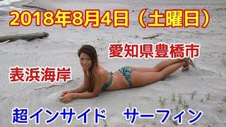 これは厳しくない?超インサイド小波愛知県豊橋市表浜海岸土日2日間サーフィン