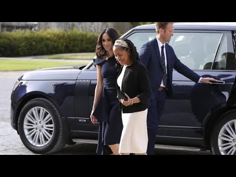 Meghan Markle's mother meets Queen Elizabeth on eve of royal wedding mp3