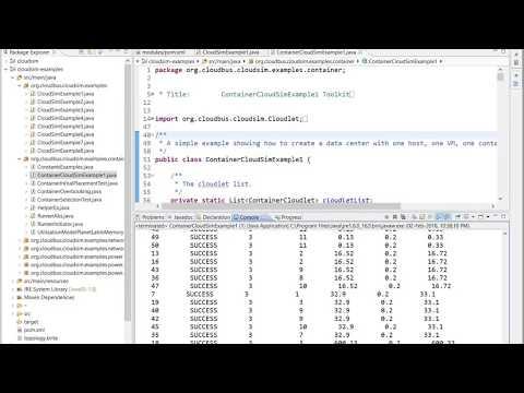 Container CloudSim Tutorial: Configure using ECLIPSE IDE