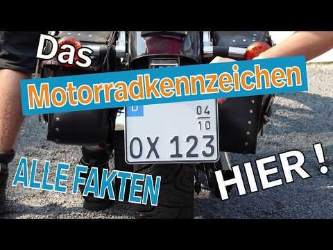 Motorradkennzeichen - Informiere Dich hier! I Kennzeichenbox.de