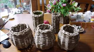 つるかご花器 Flower vase with wicker basket