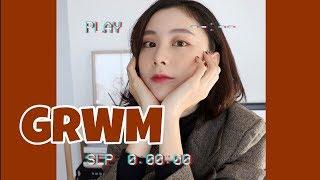 GRWM Fall Make Up 🍁| 和我一起化妆吧+OOTD | 日常短发卷发分享 | 短发造型 | 胖丁WENNING