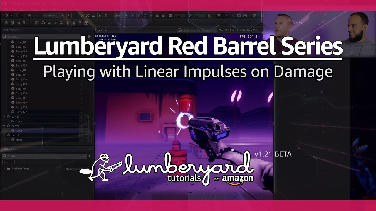 Blow up a Barrel with a PhysX Linear Impulse | Lumberyard Tutorial 2019.23