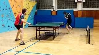 preview picture of video '4. liga: Ľubomír Černický vs. Maroš Beťák (stolný tenis)'