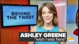 Элис Каллен (Эшли Грин), Ashley Greene Explains Furry Feet Tweet -Today Show [Behind The Tweet]