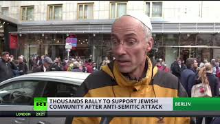 Thousands rally for publicly wearing kippahs amid fears of anti-Semitism in Berlin