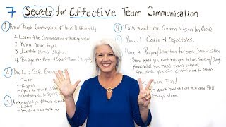 7 Secrets for Effective Team Communication - Project Management Training