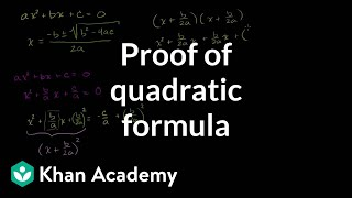 Proof of Quadratic Formula