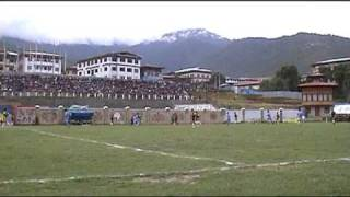 preview picture of video 'Football match in Thimphu, Bhutan'
