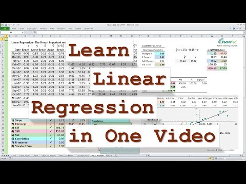 Linear Regression: SST, SSR, SSE, R-squared and Standard Error with Excel ANOVA