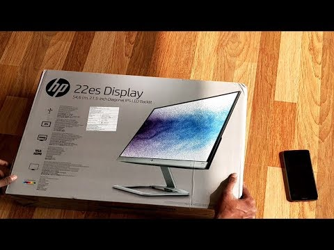 """HP - 22ES 21.5"""" IPS LED HD Monitor Unboxing and Review"""