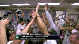 Lakers Let the Champagne Flow