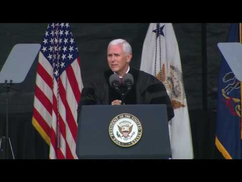 Pence cites Trump's 'leadership and perseverance' as an example to graduates