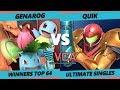 VCA19 Genarog Pokemon Trainer Vs myR quiK Samus Smash Ultimate Tournament Winners Top 64