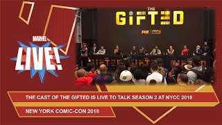 The cast of The Gifted talks season 2 at New York Comic Con 2018!