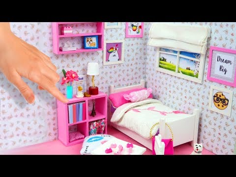 DIY habitación en miniatura para Casas de Muñecas