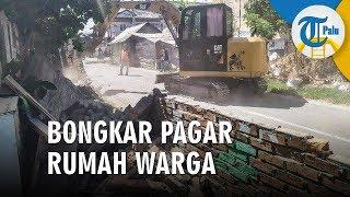 Pemkot Mulai Bongkar Pagar Rumah Warga untuk Pelebaran Jalan