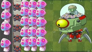 Plants vs Zombies 2 MOD: Hypno-shroom Pvz2 Vs All Freakin' Zomboss: Gameplay 2017