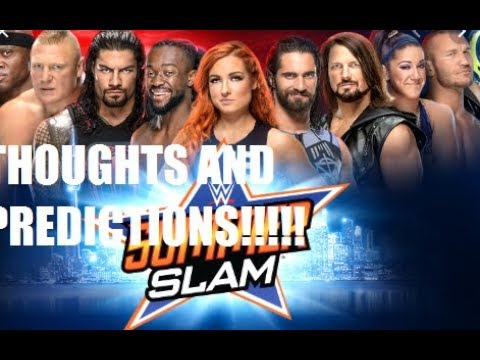 WWE SummerSlam 2019 (Thoughts and Predictions)