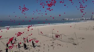 COVID-19: 1,000 Balloons Released To Honor 100,000 Deaths In Brazil