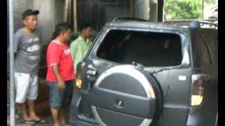 Sebuah Mobil Milik Calon Legislatif di Sleman Yogyakarta Dirusak dan Dibakar Orang Tak Dikenal
