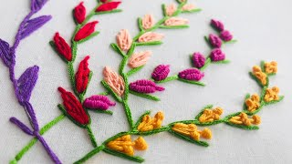 Hand Embroidery: 5 Amazing Stitches For Beginners / Embroidery For Branches / Bunch Embroidery