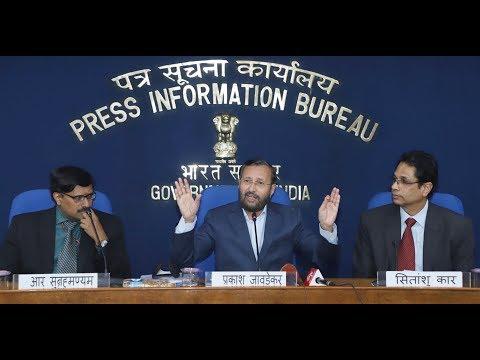 Press Conference by Union HRD Minister Prakash Javadekar on Operation Digital Board