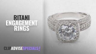 8 Amazing Ritani Engagement Rings: Ritani Halo Diamond Engagement Ring Setting in 14KT White Gold