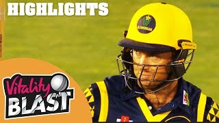 Ingram Smashes Hampshire Attack | Glamorgan v Hampshire | Vitality Blast 2018 - Highlights