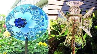 Top 50 Most Beautiful Glass Yard Art Ideas   Glass Art   Craft   Ideas   Flowers   Decorations