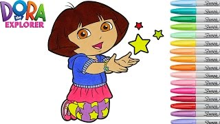Dora The Explorer Coloring Book Nickelodeon Colouring Pages Episode Rainbow Splash
