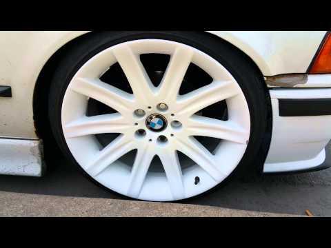 BMW plasti dip 745 wheels 3 series