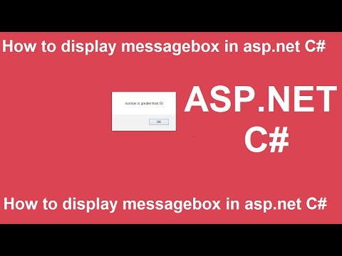 how to use message box in asp net