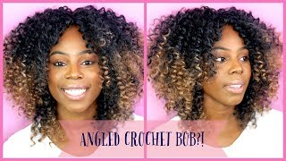 How To: Crochet Braids Curly Angled Bob. The CUTEST Style! Ll Ft. Trendy Tresses