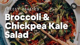 Cheesy Roasted Broccoli & Chickpea Kale Salad | Minimalist Baker Recipes