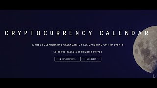 Cryptocurrency Calendar - Tool for Pump Predictions