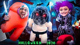 AMONG US for Halloween 2020!  (FV Family Trick or Treat Vlog)
