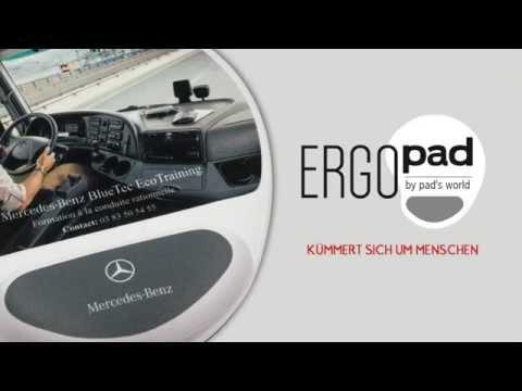 ERGOPAD by PAD'S WORLD   Ergonomisches Mauspads mit Handballenauflage (OHNE GEL!)