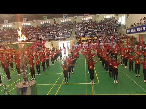 Màn đồng diễn Khai mạc Hội khỏe phù đổng- TP Đồng Hới năm học 2019 - 2020 của học sinh THCS số 1 Nam Lý