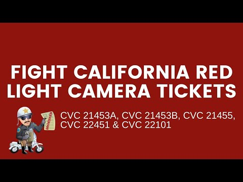 Fight California Red Light Camera Tickets